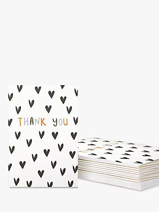 Caroline Gardner Hearts Thank You Note Cards, Pack of 10