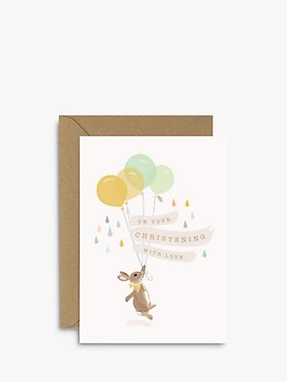 Sirocco Design Woodland Parade Christening Card