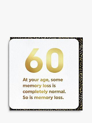 Brainbox Candy Memory Loss 60th Birthday Card