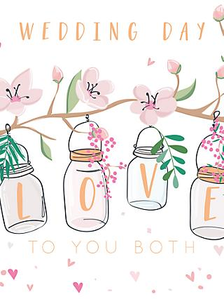 Belly Button Designs Love to You Both Wedding Card