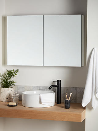 John Lewis Partners Large Double Mirror Sided Bathroom Cabinet