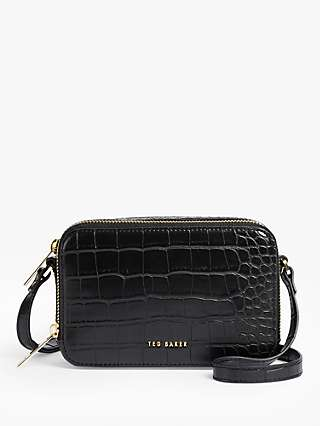 Ted Baker Stina Leather Croc Effect Cross Body Bag