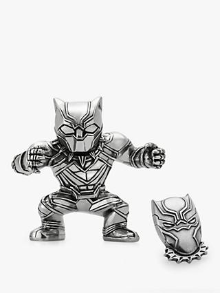 Royal Selangor Mini Black Panther Figurine and Lapel Pin Set