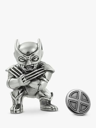 Royal Selangor Mini Wolverine Figurine and X-Men Lapel Pin Set