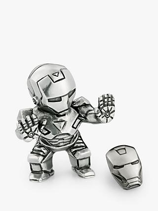 Royal Selangor Mini Iron Man Figurine and Lapel Pin Set