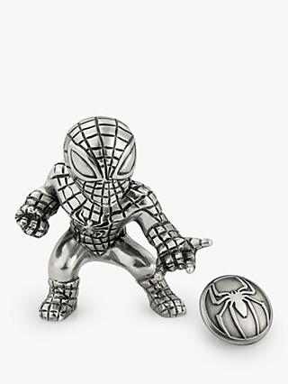 Royal Selangor Mini Spider-Man Figurine and Lapel Pin Set