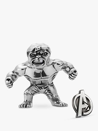 Royal Selangor Mini Hulk Figurine and Avengers Insignia Lapel Pin