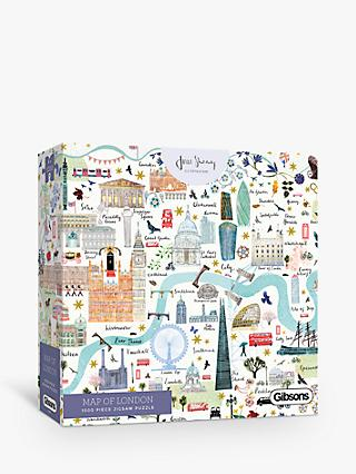 Gibsons London Map Jigsaw Puzzle, 1000 Pieces