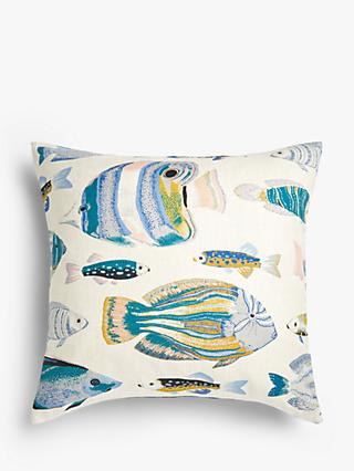 John Lewis & Partners Fish Cushion, Multi