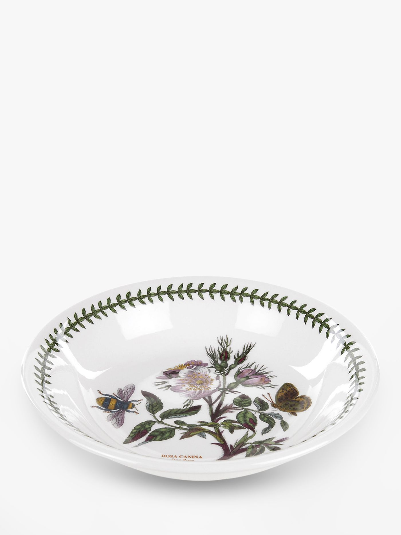 Portmeirion Botanic Garden Dog Rose Flower Pasta Bowl, 20cm, Seconds