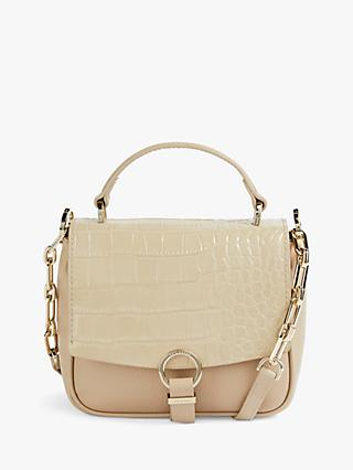 Ted Baker Josieyy Leather Mini Cross Body Bag, Taupe