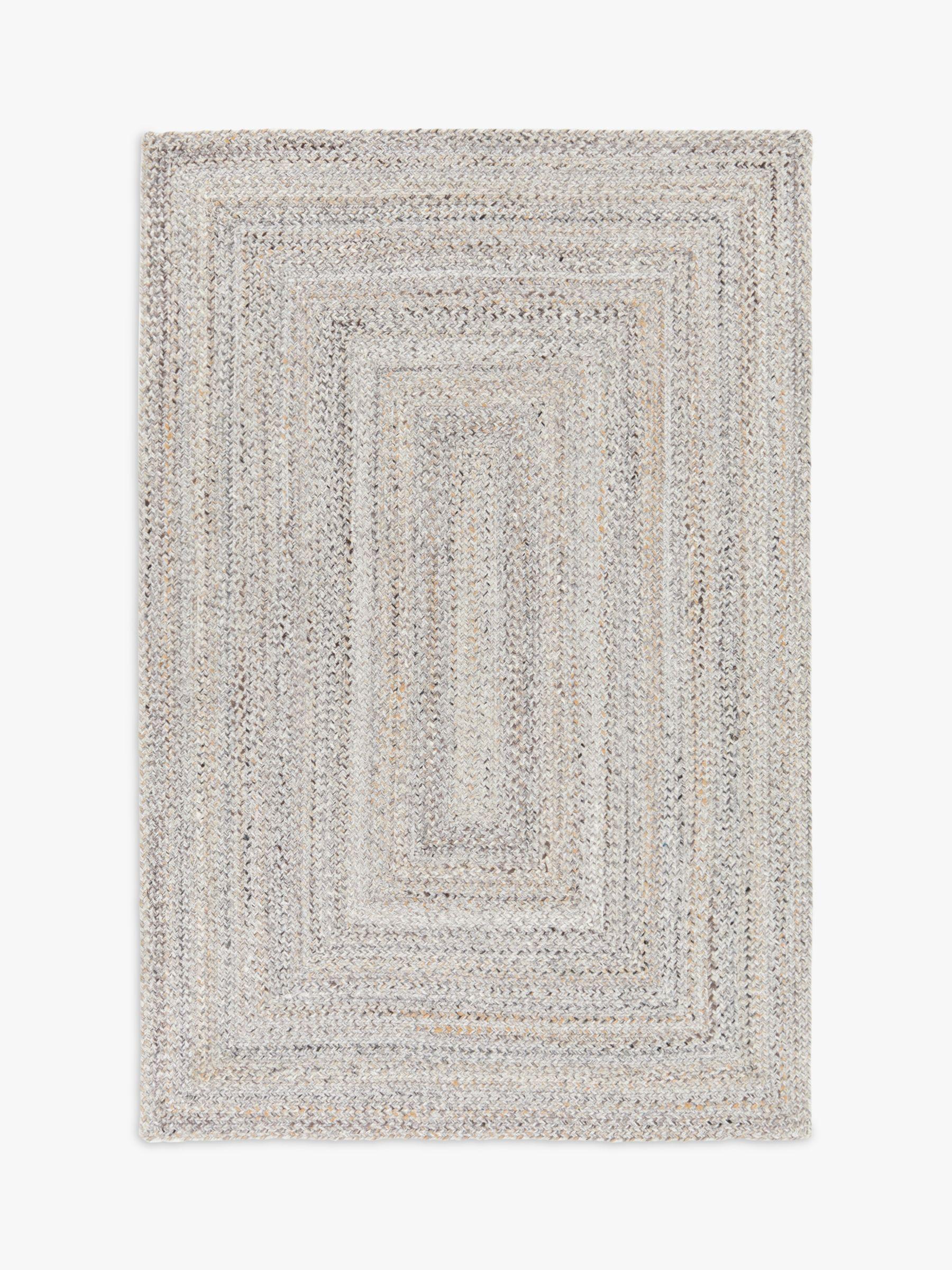 John Lewis & Partners Indoor & Outdoor Braided Rug, Marl Grey, L180 x W120 cm