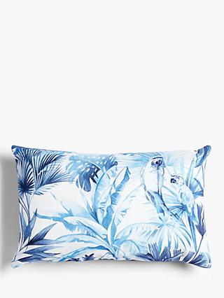 ANYDAY John Lewis & Partners Jungle Parrot Cushion, Blue