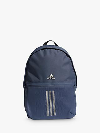 adidas Classic 3-Stripes Backpack, Crew Navy/Aluminium