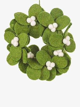 Felt So Good Pop Art Mistletoe Wreath Tree Decoration