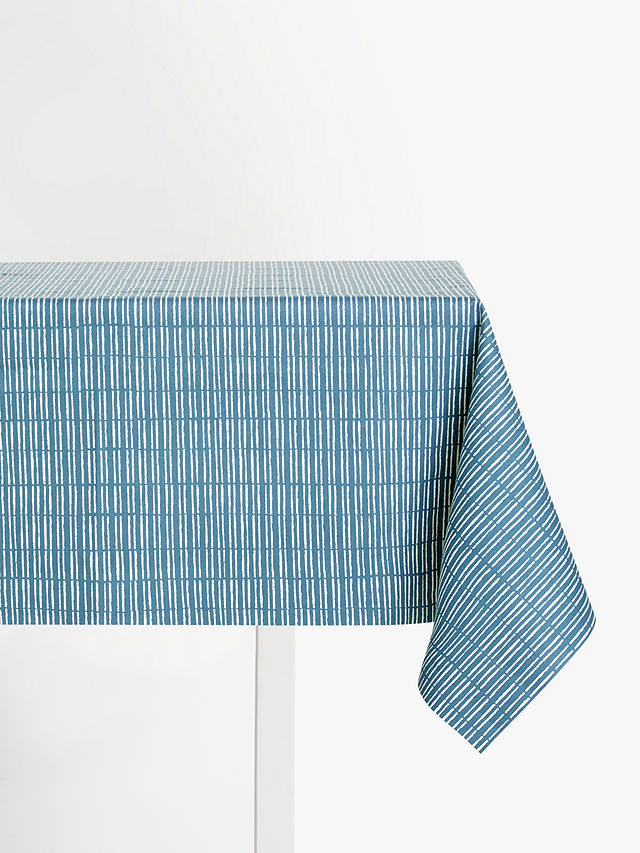 Buy John Lewis & Partners Bamboo PVC Tablecloth Fabric, Bluestone Online at johnlewis.com