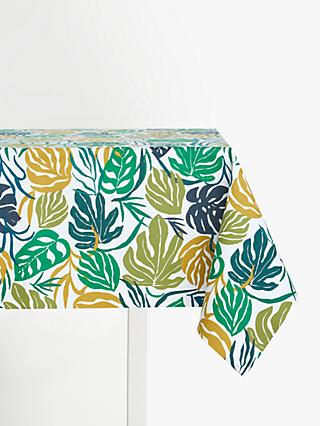 John Lewis & Partners Tropical Plants PVC Tablecloth Fabric, Green