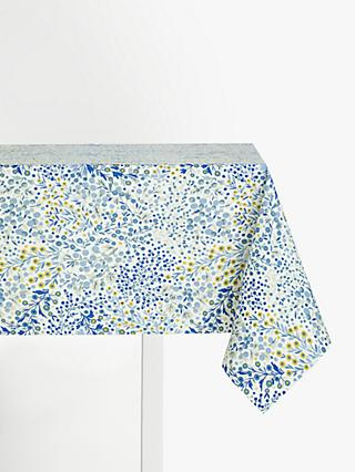 John Lewis & Partners Caravelle PVC Tablecloth Fabric, Blue