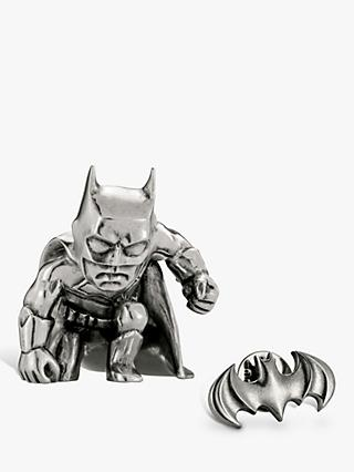 Royal Selangor Mini Batman Figurine and Lapel Pin Set