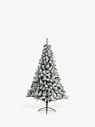 Kaemingk Imperial Pine Frosted Unlit Christmas Tree, 7ft