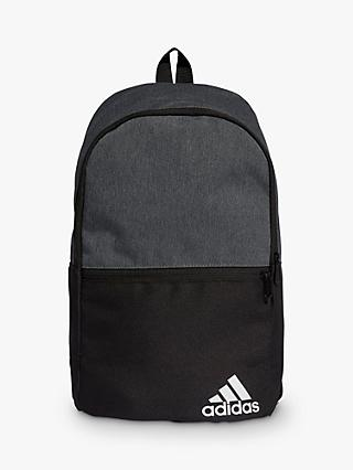 adidas adidas Daily II Backpack, Dark Grey Heather/Black/White