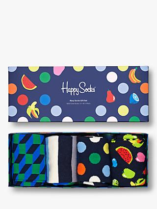Happy Socks Navy Sock Gift Box, One Size, Pack of 4