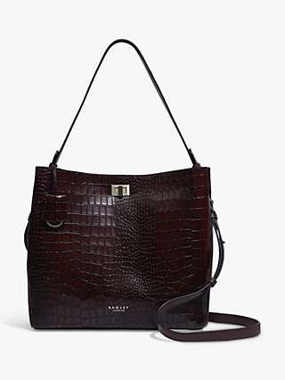 Radley Hope Street Croc-Embossed Leather Tote Bag