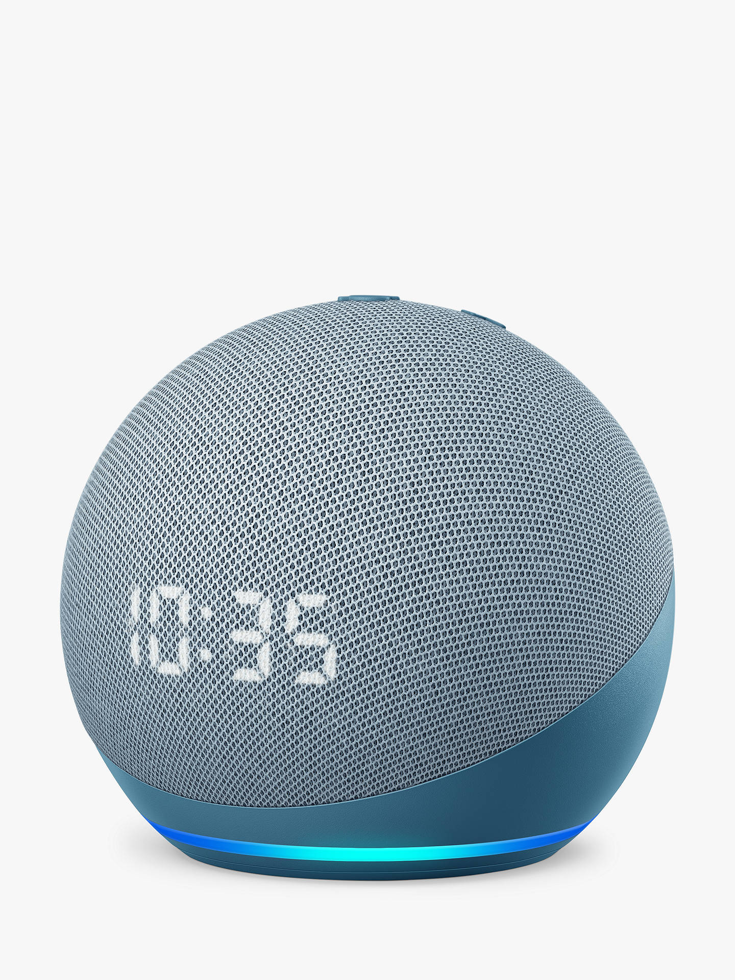 Buy Amazon Echo Dot Smart Speaker with Clock and Alexa Voice Recognition & Control, 4th Generation, Twilight Blue Online at johnlewis.com