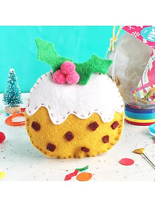 The Make Arcade Christmas Pudding Felt and Pom Pom Craft Kit
