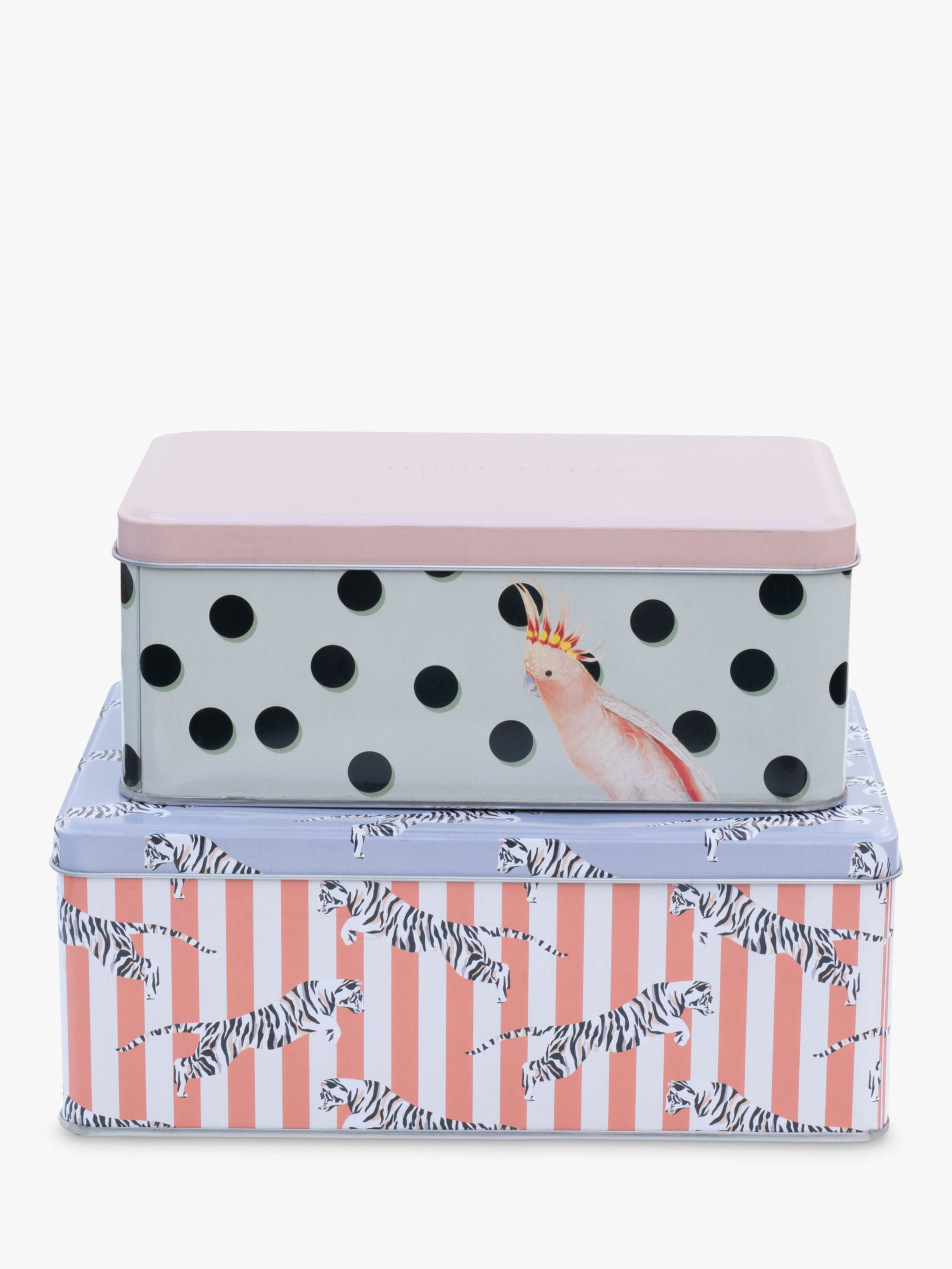 Yvonne Ellen Rectangular Cake Tins, Set of 2, Pink/Multi