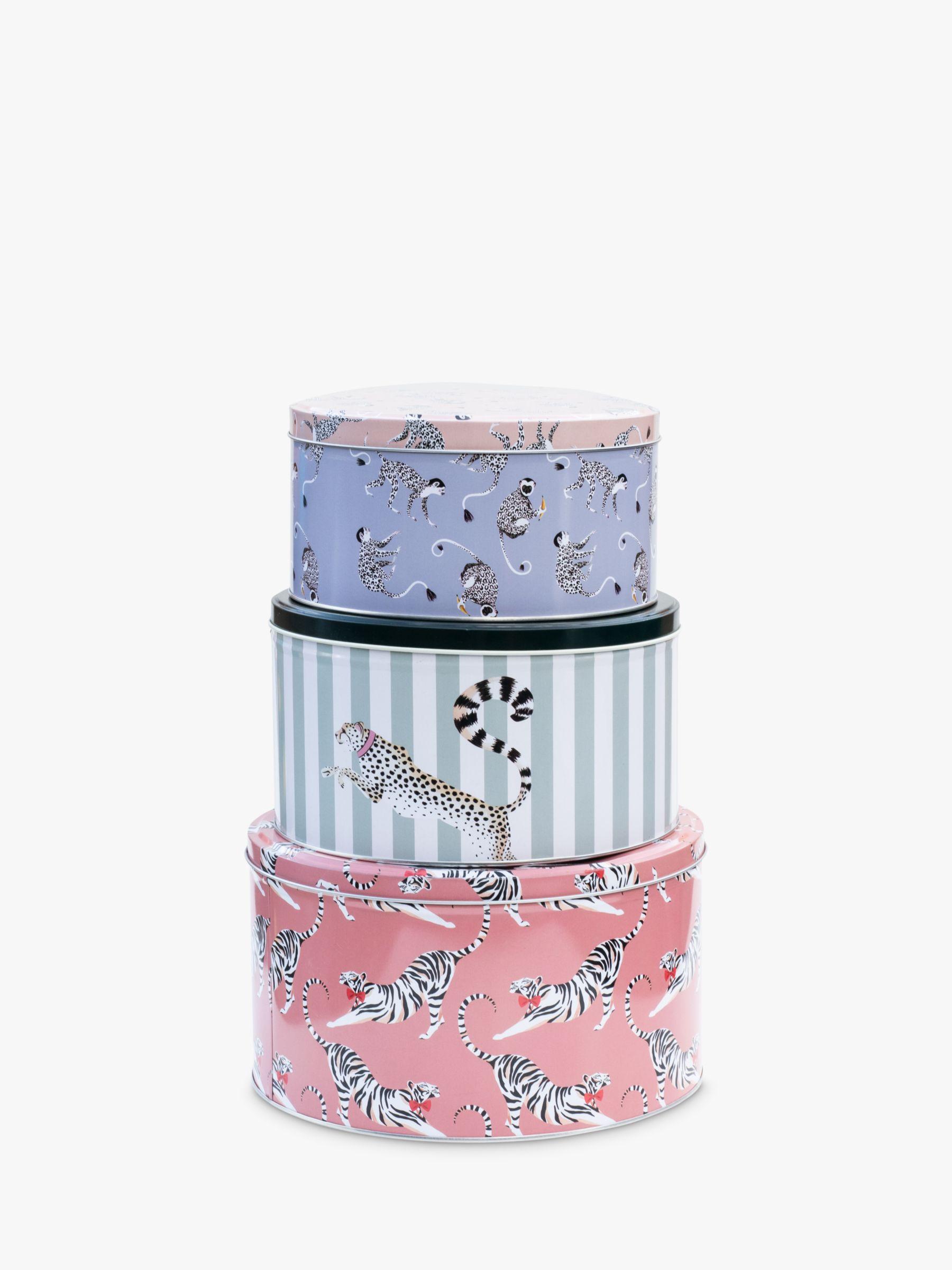 Yvonne Ellen Round Cake Tins, Set of 3, Pink/Multi
