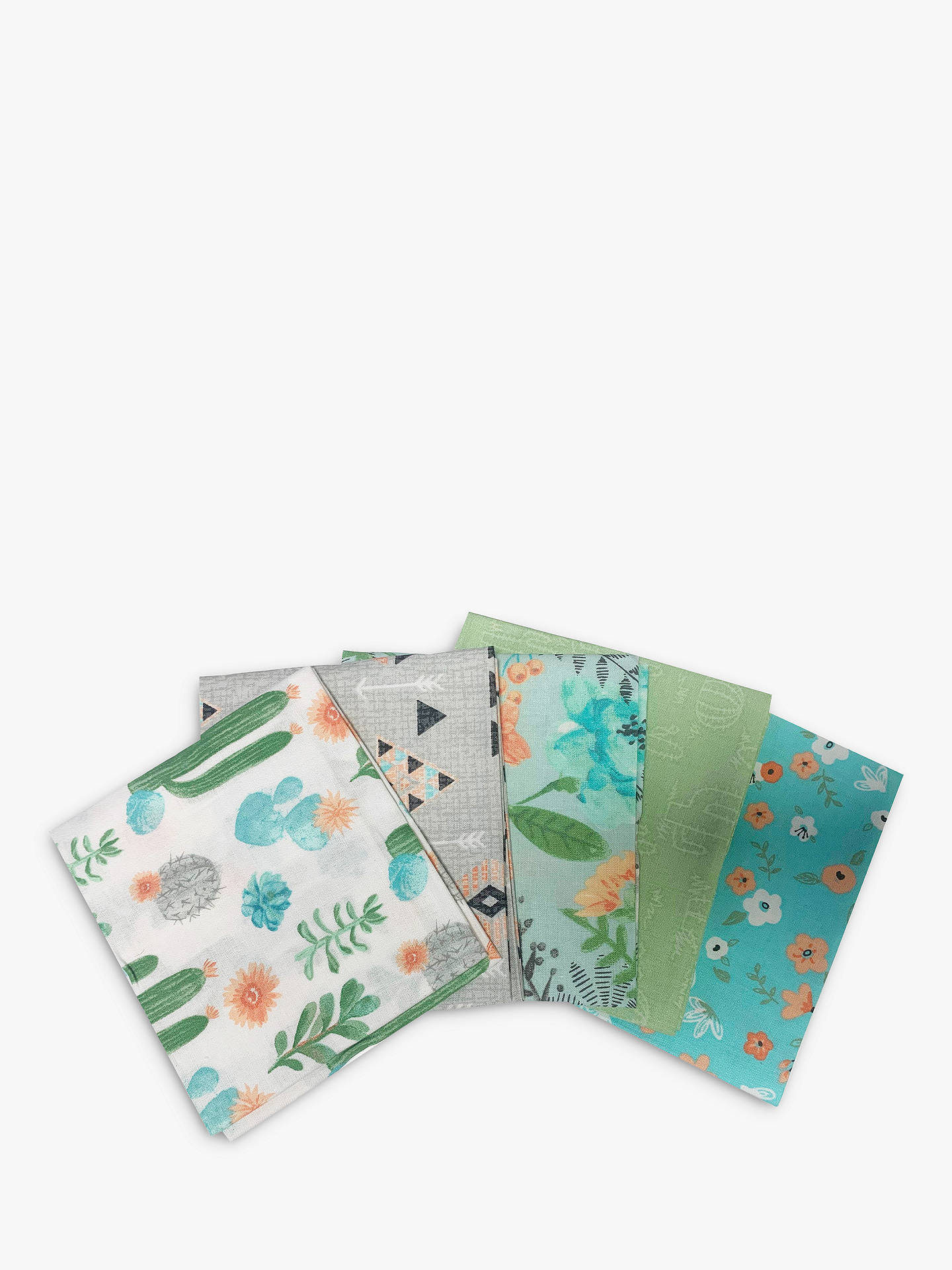 Buy Visage Textiles Aiyanna Print Fat Quarter Fabrics, Pack of 5, Multi Online at johnlewis.com