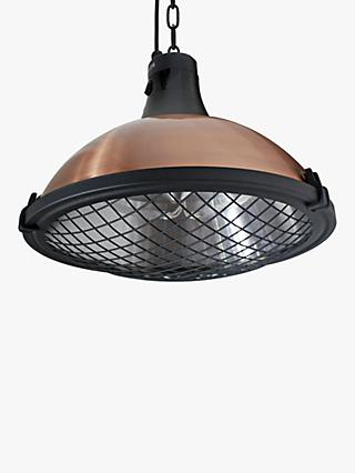 KETTLER Kalos Copper Hanging Pendant Electric Patio Heater