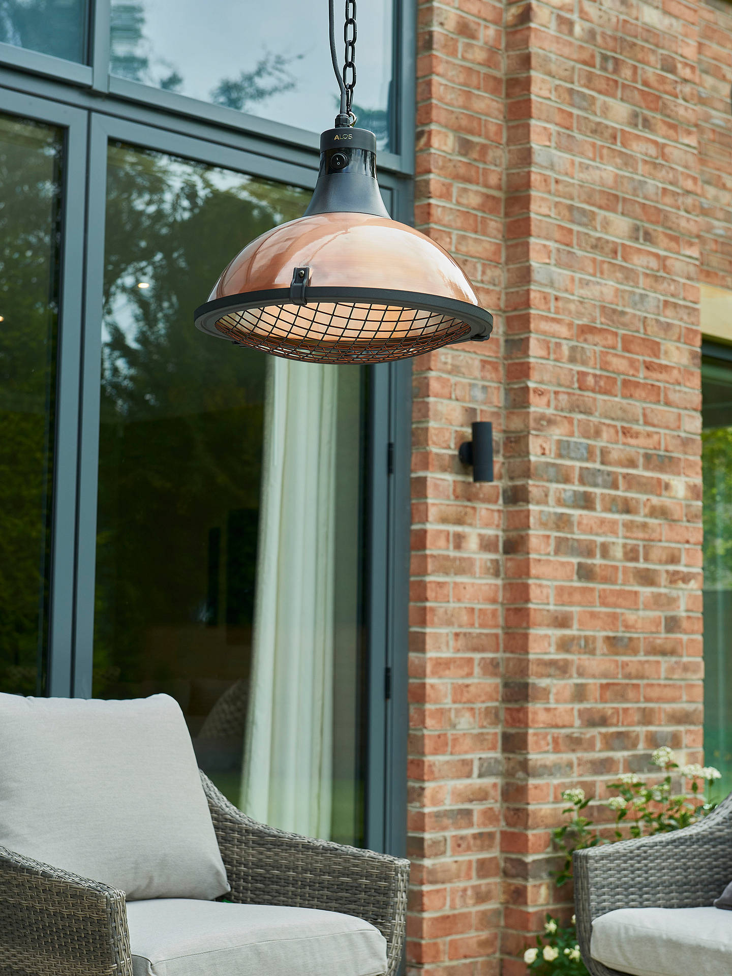 Buy KETTLER Kalos Copper Hanging Pendant Electric Patio Heater Online at johnlewis.com