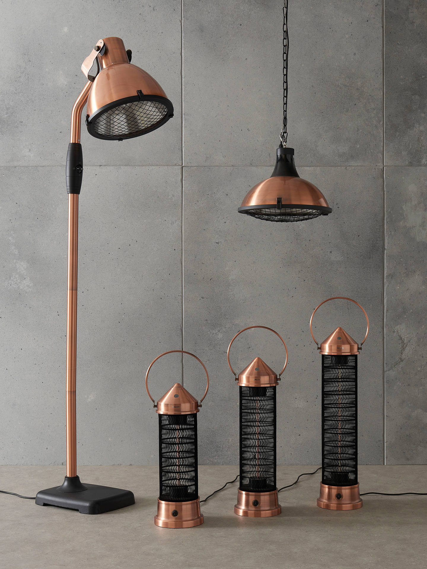 Buy KETTLER Kalos Copper Lantern Electric Patio Heater, Large Online at johnlewis.com