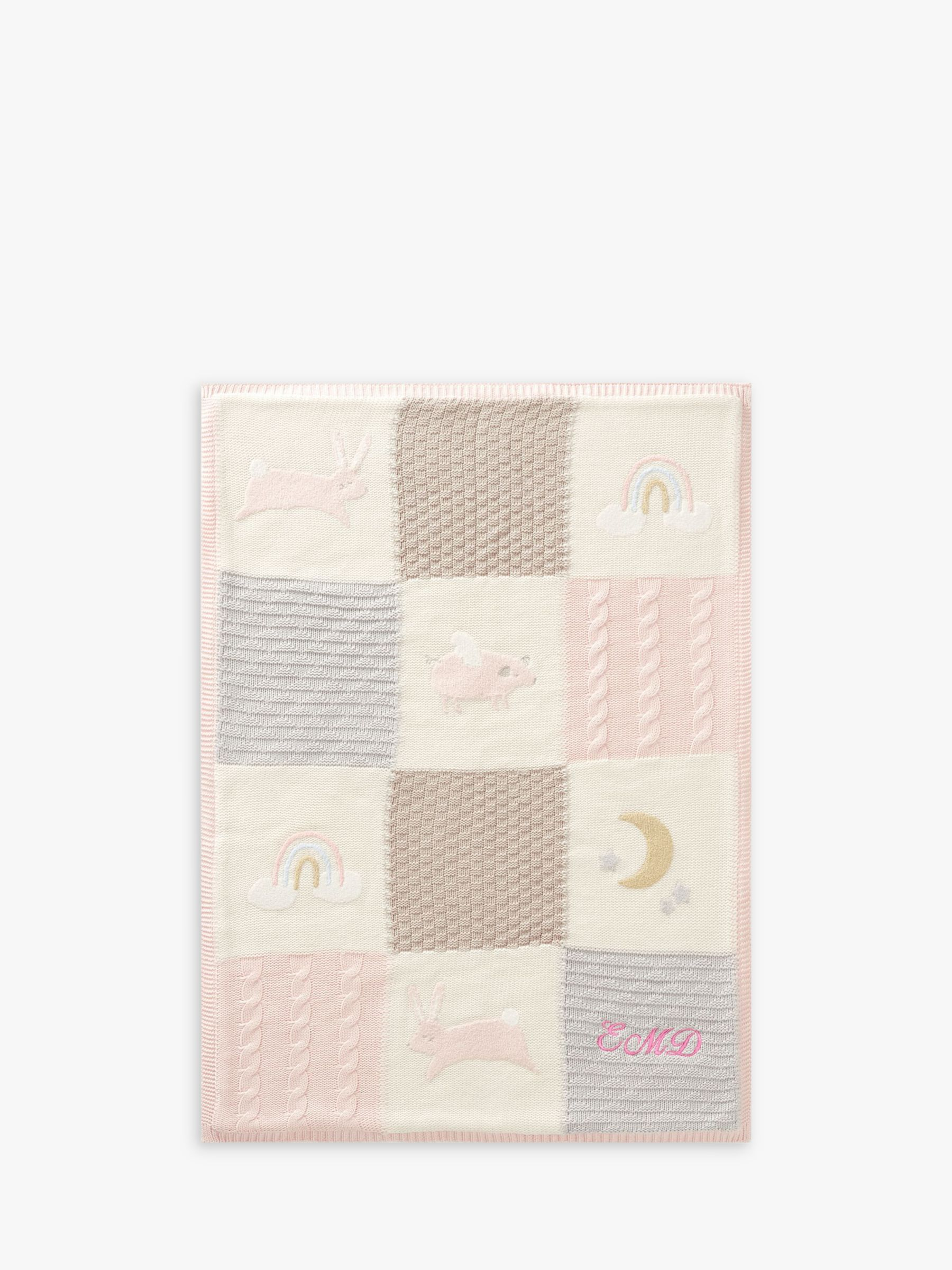 Pottery Barn Kids Bunny Quilted Baby Blanket, Pink