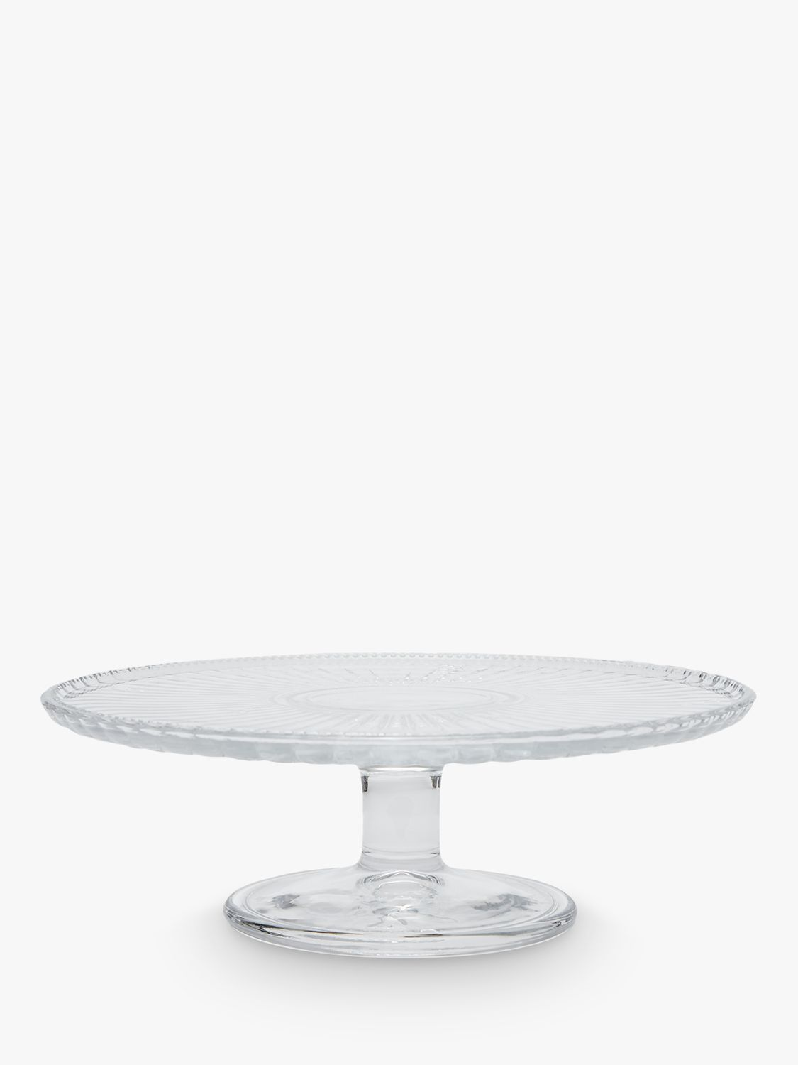 Joules Bee Glass Cake Stand, Clear