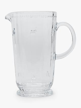 Joules Bee Glass Jug, Clear