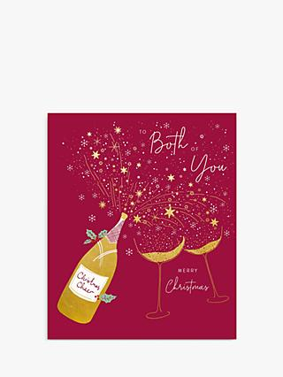 Woodmansterne Fizz & Glasses Both of You Christmas Card