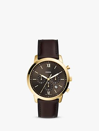 Fossil Men's Neutra Chronograph Date Leather Strap Watch