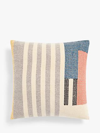 House by John Lewis Woven Colour Block Cushion, Multi