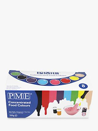 PME Concentrated Cake & Food Colours, Pack of 8, Assorted