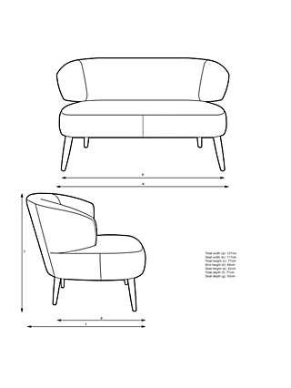John Lewis & Partners Petal Petite 2 Seater Sofa