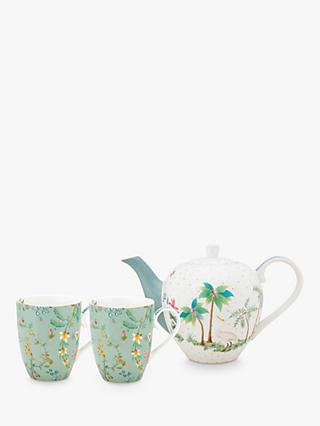Pip Studio Jolie 1.6L Teapot & 350ml Mugs Set, Multi