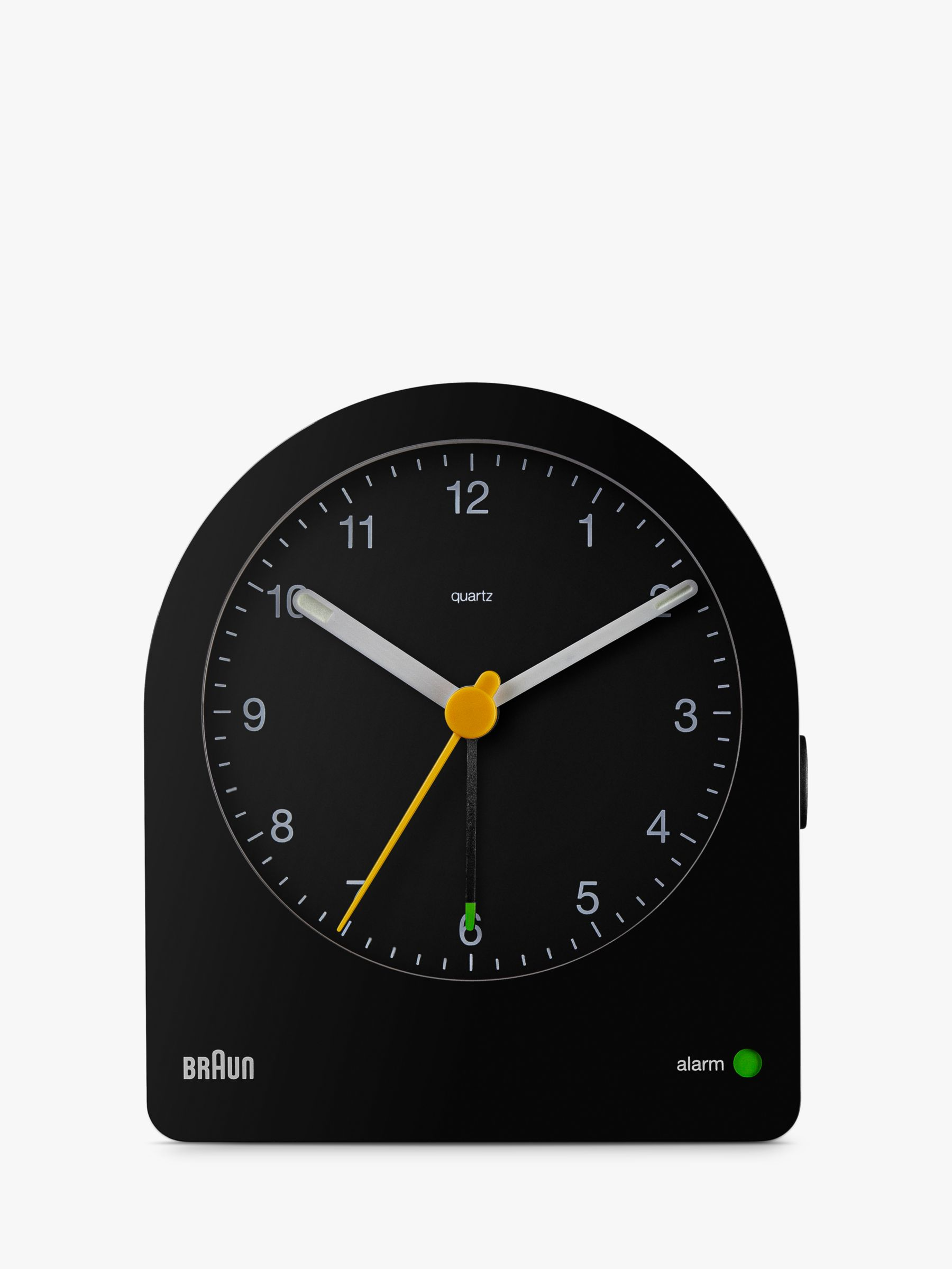 Braun Analogue Alarm Clock, Black