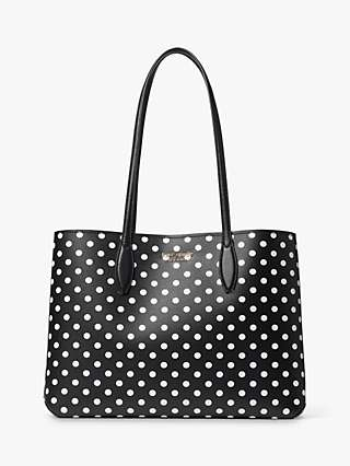 kate spade new york Lady Dot Tote Bag, Black/White