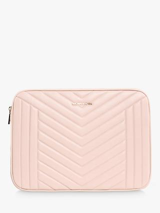MICHAEL Michael Kors Quilted Leather Laptop Case, Soft Pink