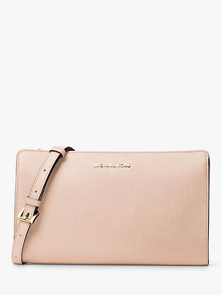 MICHAEL Michael Kors Convertible Saffino Leather Cross Body Bag