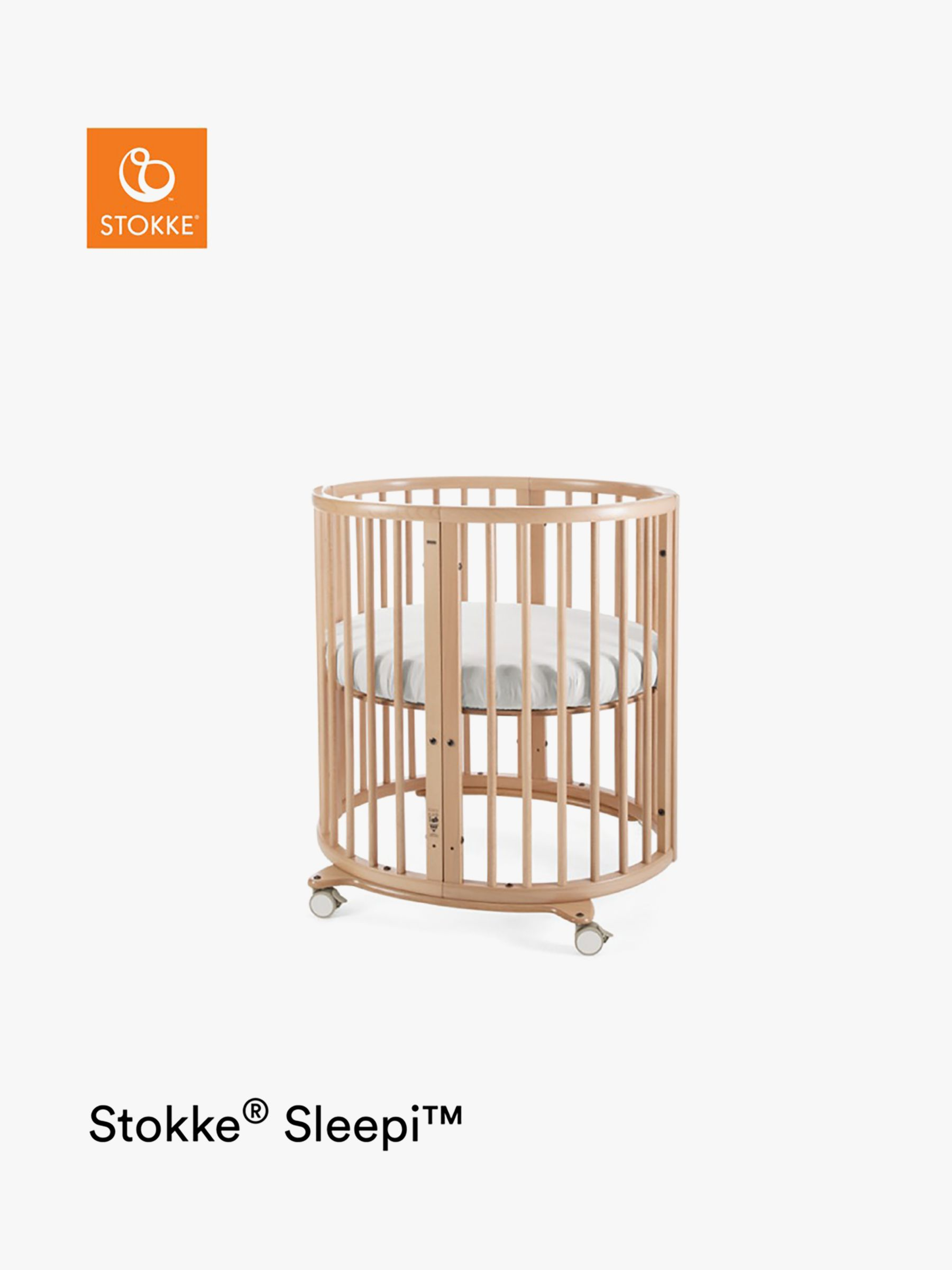 Stokke Sleepi Mini Oval Crib, Natural