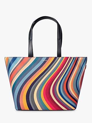 Paul Smith Swirl Leather Tote Bag, Multi